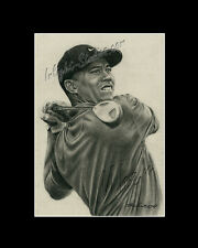 Tiger Woods professional golfer drawing from artist art image picture