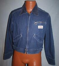 Vintage CARTERS Watch The Wear Denim Blue Jean JACKET M Zippered VTG Made In USA