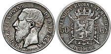 BELGIQUE 50 CENTIMES 1886 KM#27