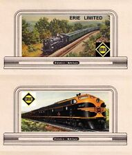 Railroad billboard signs, HO or OO scale ERIE LIMITED