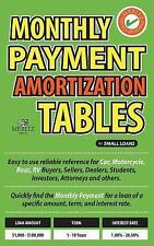 Monthly Payment Amortization Tables for Small Loans : Simple and Easy to Use...