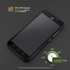 Used Smartphone ZTE Quartz Z797 Z797C Straight Talk 8GB Cellphone Clean ESN