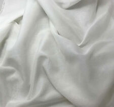 Silk/Cotton Voile Batiste Fabric WHITE 1/3 yd remnant