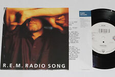 """R.E.M. -Radio Song / Love Is All Around- 7"""" 45 mit Product Facts Promo-Flyer"""