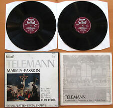SAL 3494-5 Telemann St Mark Passion Kurt Redel Philips 2xLP Hi-Fi Stereo NM/VG