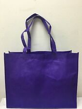SHOPPING BAGS ECO FRIENDLY REUSABLE RECYCLABLE GIFT EVENT BAG PURPLE 10 PCS MED