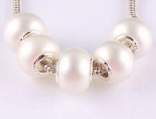 NEW 5pcs silver spacer beads fit Charm European Bracelet DIY AA645