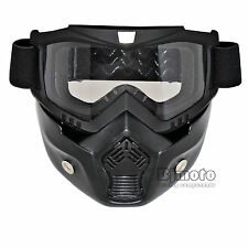 Clear Lens Flexible Goggles Nose Face Mask Protective Tactical Motorcycle Helmet
