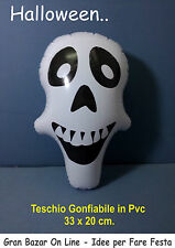 HALLOWEEN TESCHIO GONFIABILE 33X 20 CM AFESTA HORROR DJ PARTY PIRATI