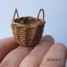 6 x Miniature Small WICKER BROWN empty Basket Doll house  Lot G 1:12 #91