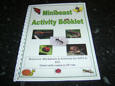 BUGS minibeast themed resource booklet worksheets ideas childminding EYFS KS1