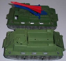 VINTAGE MPC ARMY MILITARY MISSILE LAUNCHER TANK & MISSLE W/APC SUPPORT TANK