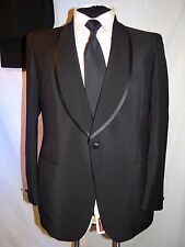 D' AVENZA -ROMA-ITALY VTG HAND TAILORED SHAWL COLLAR TUXEDO SUIT UK 40 EU 50