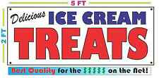 Full Color ICE CREAM TREATS BANNER Sign NEW Larger Size Best Quality for the $