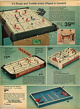 1974 ADVERT Hockey Toy Games NFL Styanley Cup Power Play Tournament On Legs