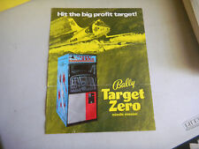 TARGET ZERO TORN  FOLDED   BALLY ARCADE GAME  FLYER