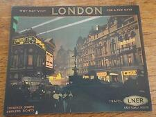 LONDON LNER London North Eastern Railway Poster Advertisement Criterion Theatre