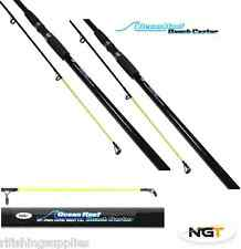 2 X 12FT BEACHCASTER SEA FISHING RODS NGT OCEAN REEF RODS IN CLOTH CASE BAG