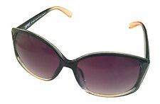 Esprit Sunglass Black Fade Fashion Rectangle, Brown Gradient Lens 19352 538