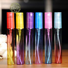 Set 6 Empty Crystal Cut Glass Perfume Spray Bottle Atomiser Refillable Gifts 8ml