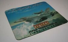 VINTAGE COLLECTIBLE DEC DIGITAL ALPHA WORKSTATIONS FIGHTER JET PLANE MOUSE PAD