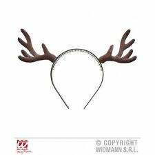 Dark brown reindeer horns stag antlers wild animal fancydress accessory 9538D