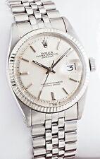 Rolex Datejust 1601 WG Fluted Bezel Silver Dial Jubilee 36mm