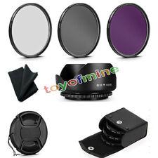 58mm UV+FLD+CPL Filtro Multicoated FOTOCAMERA Circolare Paraluce Per Canon