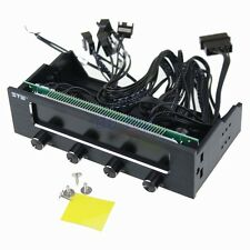 """5.25"""" Bay Front LCD Panel 4 Fan Speed Controller CPU Computer Temperature Sensor"""