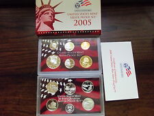 2005 US Mint Silver Proof Set- Free Shipping