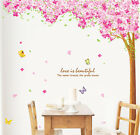Mega Pink Blossom Flowers Tree Removable Wall Art Decals Vinyl Stickers Mural