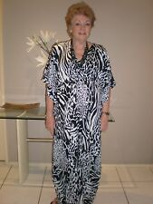 Long  Kaftan/Caftan dress Designed in Australia Boho,Grecian Small size 8-14 New