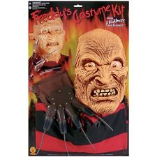 Freddy Kit Nigthmare on Elm Street Adult Mens Krueger Mask Shirt & Glove Costume