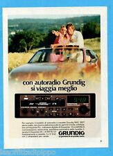 QUATTROR983-PUBBLICITA'/ADVERTISING-1983- GRUNDIG - AUTORADIO