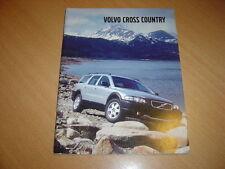 CATALOGUE Volvo Cross Country de 2002 en anglais
