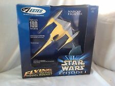 star wars episode 1 naboo fighter flying action model rocket mib rare !
