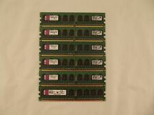 Lot of 6 Kingston KVR667D2E5/1GI 1GB ECC PC2-5300E Memory  U7 E