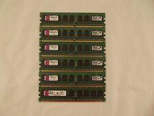 Lot of 6 Kingston KVR667D2E5/1GI 1GB ECC PC2-5300E Memory  U7 E