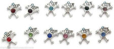 12pc Wholesale Lot Birthstone Boy Son Floating Charms For Glass Lockets