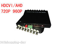 1 pairs 8 CH HDCVI / AHD Video data Fiber Converters with RS485 FC/Single mode