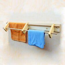 In legno porta asciugamani Wall Mounted Asciugamano Rack BAGNO ASCIUGAMANI titolare