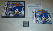 *COMPLETE* Sonic Rush (Nintendo DS, 2005) Tested Fast Shipping 3DS 2DS NO LABEL