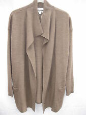 "NWT ""MAX STUDIO"" Milk Chocolate Merino Wool 3/4 Length Cardigan  - Size S"