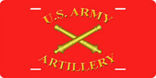 U.S. ARMY ARTILLERY FULL SIZE ALUMINUM VANITY FRONT LICENSE PLATE