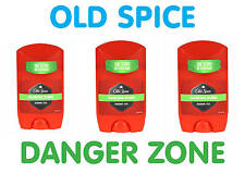 3x Old Spice Danger Zone Anti-perspirant Fresh Deodorant Stick, 50ml, 1.69fl oz