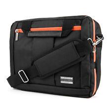 """Black/Orange Messenger Bag Backpack Briefcase for Microsoft Surface Pro 4 3 12"""""""