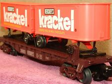 "LIONEL #6-26693 HERSHEY ""KRACKEL"" CHOCOLATE LOVERS TOFC DELUXE FLAT CAR BOXED!!"