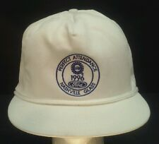 Vintage Ford Nashville Glass 1996 Perfect Attendance Rope Front Strapback Hat