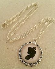 Belle Beauty & the Breast Handmade Pendant Necklace Disney Cameo Style Princess
