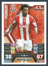 TOPPS MATCH ATTAX 2013-14- #261-STOKE-REAL ZARAGOZA-LIVERPOOL-JERMAINE PENNANT